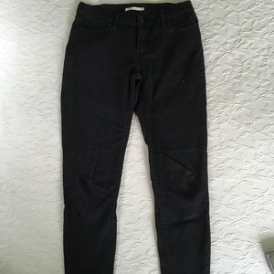 LEVIS 701 Super Skinny Black Jeans Womens  29 x 28